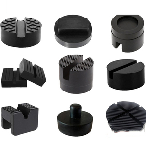 Hot Sell Black Slotted Frame Rail Floor Jack Rubber Pad for Pinch Weld Side